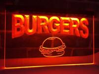 Burgers Cafe LED Neon Light Sign Bar Club Pub Advertise Decor Sport Gift Sale