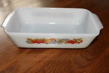 Vintage Fire King Nature's Bounty 1 1/2 Quart Baking Dish #441. Nice Colors.