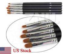 Professional 5X Nail Art Flat Brush UV Gel Acrylic Decoration Dotting Tools Kit