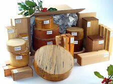 Superior wood turning blanks gift selection pack.  Mixed sizes and species. 90