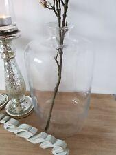 Blumenvase XL Glas Vase Klar Dekovase Bodenvase Tischvase H 38cm Landhaus modern