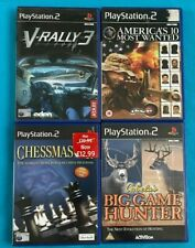Sony Playstation 2 Spiels x 4. V-Rally 3-Schach-Most Wanted-Big Game Hunter