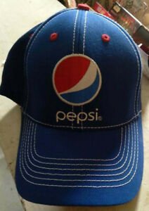 PEPSI Cola Baseball Hat Cap - NWT Mens Womens Retro Embroidered Blue