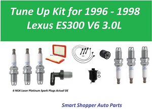 Tune Up for 1996 1997 Lexus ES300 PCV Valve, OIl Fil Air Fuel Filter, Spark Plug