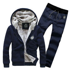 Set Warm Men Hoodie Sweater Suit Winter Velvet Tracksuit Jogging Trousers Pant