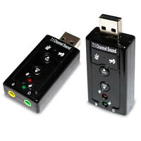 USB 2.0 3D Virtual Dongle 12Mbps External 7.1 Channel Audio Sound Card Adapter