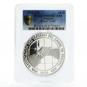 Panama 10 balboas Panama Canal Treaty PR69 PCGS silver coin 1978