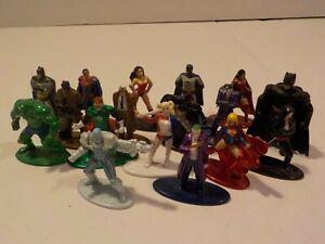 N NANO Metal Figs DC Batman Superman Suicide Squad metal Mini figure lot Jada