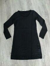 Super Shirt, Unterkleid, CREAM, schwarz, Spitze, Gr: L - 40, langarm