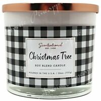Scentsational Soy Blend Wax 26oz Cotton 3 Wick Holiday Candle - Christmas Tree