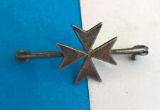 Ancienne Epingle Broche Croix de Malte
