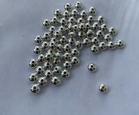 925 Sterling Silver Bright Seamless Saucer Spacer Beads 6 Mm
