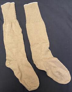 Dutch Military Thick Long Tan Wool Nylon Mix Patrol Boot Cold Weather Socks