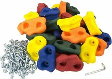 """20 Large Kid Rock Climbing Holds-with Mounting Hardware for up to 1""""Installation"""