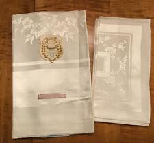 Vintage Damask Tablecloth & 6 Napkins NWT 52 X 68 Floral