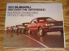 Original 1983 Subaru Full Line Foldout Sales Brochure 83 Sedan Hardtop Hatchback