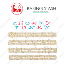 FMM Tappits - Chunky Funky Alphabet Cutters - Upper Case & Numbers Icing Cutters