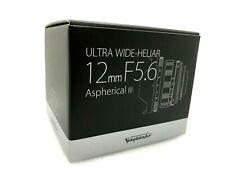 NUOVO Voigtlander Ultra Wide-Heliar 12mm f/5.6 lenti asferiche III VM Mount
