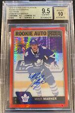 MITCH MARNER 2016-17 OPC Platinum RED PRISM 23/50 Rookie Auto Leafs BGS 9.5