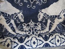 Vintage Tapestry Jacquard Style India Henna Tiger Pattern Bed Cover Bedspread