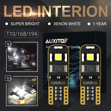 2X CANBUS T10 168 194 White 3030 SMD HIGH POWER LED Side Car Wedge Bulbs AUXITO