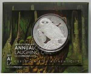 New Zealand - 2017- 1 OZ Silver Proof Coin-  Laughing Owl - Whekau