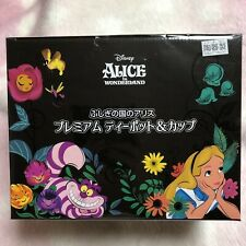 NEW Disney Alice in the Wonderland Premium Teapot & Cup Set Cheshire Cat Pot