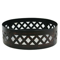 """Black Camping Fire Portable Fire Pit Ring 37"""" Steel Metal Round Burner"""