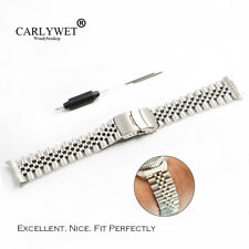 20mm Hollow Curved End Solid Screw Links Jubilee Bracelet Watch Band For SKX