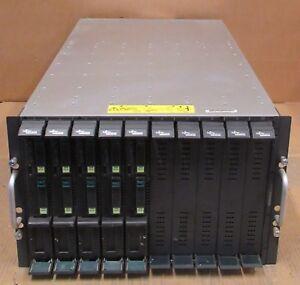 Fujitsu PRIMERGY BX600 S3 + 5x BX620 S4 Blade Servers 10x Quad Core XEON 80GB