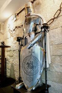 Medieval Steel Armour Wearable Suit Of Armor Templar Battle Combat Full Body