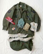 U. S. Air Force COLD WEATHER FIELD COAT OG-107 + Liner Hood Pocket Contents 1983