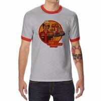 Eat Your Worries Funny Ringer T-shirts Men's Cotton Raglan Short Sleeve Tops Tee