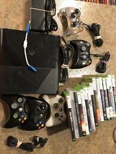 Microsoft Xbox 360 E 250gb W/ Controller 15 Games 5 Controllers