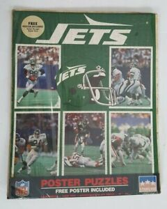 Vintage 1988 New York Jets Poster Puzzle - NEW NOS Old Logo