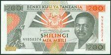 TWN - TANZANIA 25b - 200 Shilingi 1993 UNC Prefix NV