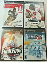 PS2 Sports Game Lot of 4: Madden 2004 ESPN NHL 2K5 Final Four 2002.FREE SHIPPING