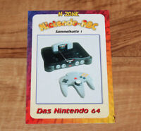 Old Vintage Nintendo 64 N64 Console German Collectible Information Card