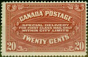 Canada 1922 20c Carmine-Red SGS4 Fine Mtd Mint
