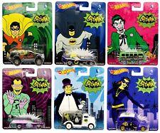 Hot Wheels Pop Culture DC Comics Batman Classic TV 1966 Diecast Cars 6-Pack