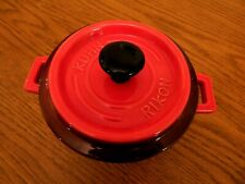 Kuhn Rikon Stoneware Red Casserole/ Snacks/ Dips Dish and Lid. Never Used.