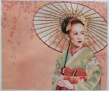Lanarte Geisha Cross Stitch Kit, 34968, 27ct peach evenweave OOP