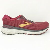 Brooks Womens Adrenaline GTS 20 1202961B639 Red Running Shoes Lace Up Size 8 B