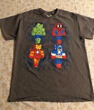 MARVEL LEGO HULK-SPIDERMAN-IRON MAN- CAPTAIN AMERICA GRAY COLOR T-SHIRT SIZE M