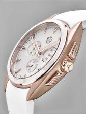 Armband uhr ori Mercedes Lady Damen Chronograph Uhr rosegolden Steinchen Ø 39mm