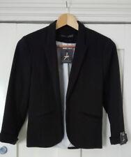 Black Long Sleeve Work Cropped Box Jacket Size 8 New