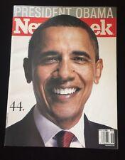 PRESIDENT BARACK OBAMA .44 NEWSWEEK MAGAZINE 11/17/2008