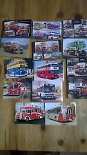 Collection of Fourteen Postcards of Buses