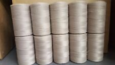 Rug Warp- Lot of 10 (1/2 lb ea.)- Polyester - Color Taupe