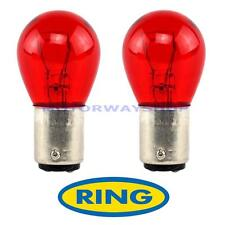 2 x PR21 / 5 W 12V Freno Stop & Tail LAMPADINE COPPIA RED R780 780 BAW15D Anello FORD